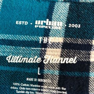 urban pipeline Shirts & Tops - Urban Pipeline Blue Flannel L